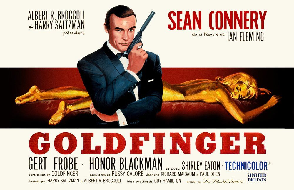 James Bond 007 Goldfinger Movie Poster 11x17 In 28x43 Cm Sean