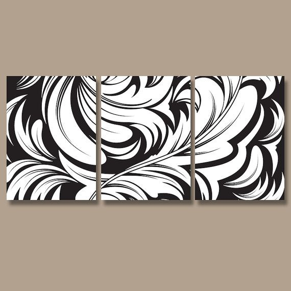 Damask Wall Art black white wall art- damask artwork- bedroom pictures- canvas or