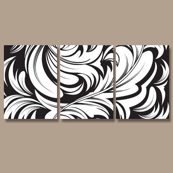 Black And White Artwork For Bedroom Grey Paint Colors Bedroom Art For Kids Bedroom Proper Bedroom Arrangement: DAMASK Wall Art Canvas Artwork Swirl Flourish Design Black