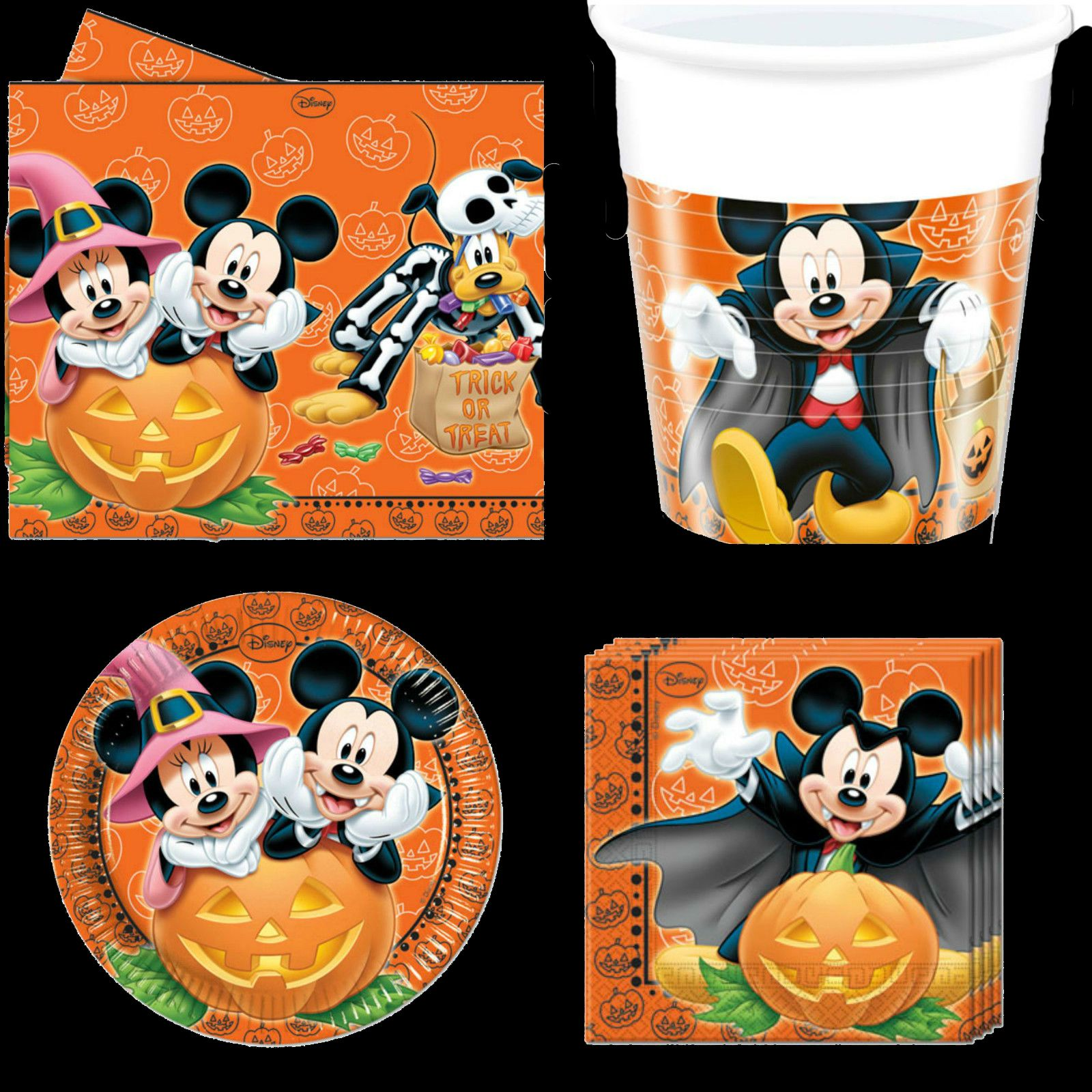 Details about Mickey Mouse Halloween Set Disney Birthday Party ...