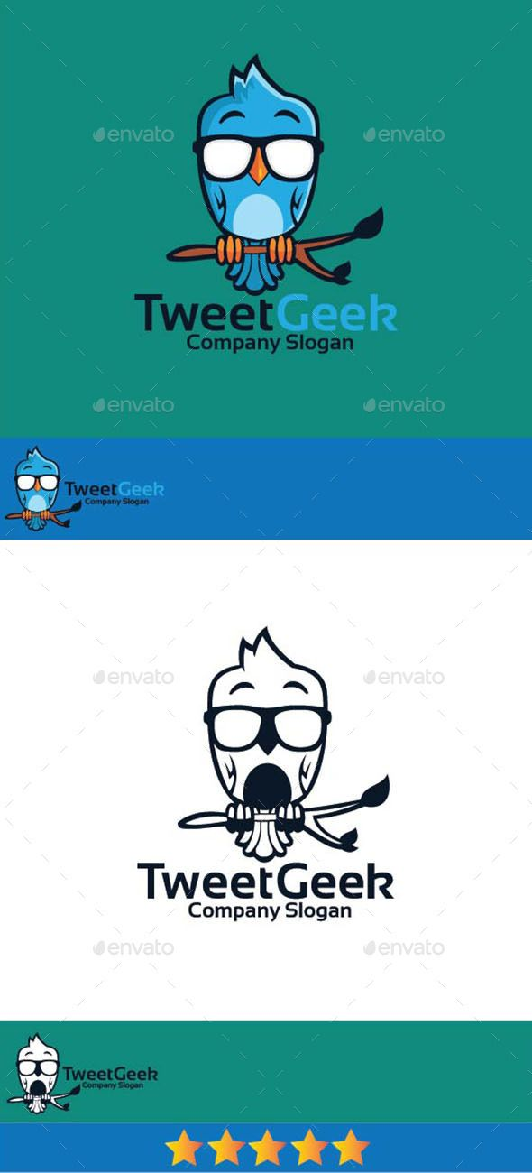 tweet geek logo vector eps twitter blog available here