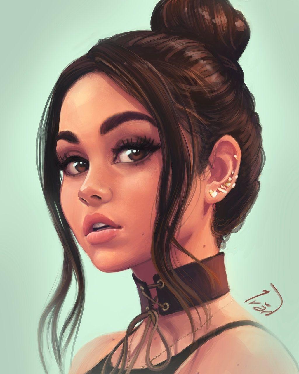 Нарисованные девушки в стиле арт (35 фото) ⭐ Юмор, картинки и забавные фото    Рисунки девушки, Портреты девочек, Портрет-иллюстрация