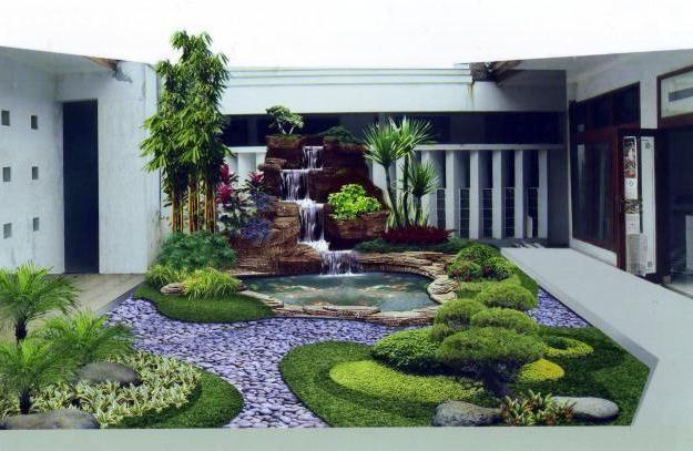 Desain Dapur Minimalis Ada Taman