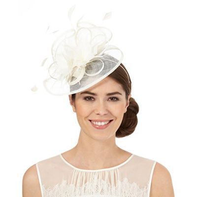 Jacques Vert Lace Overlay Pillbox Fascinator Wedding//Special Occasion
