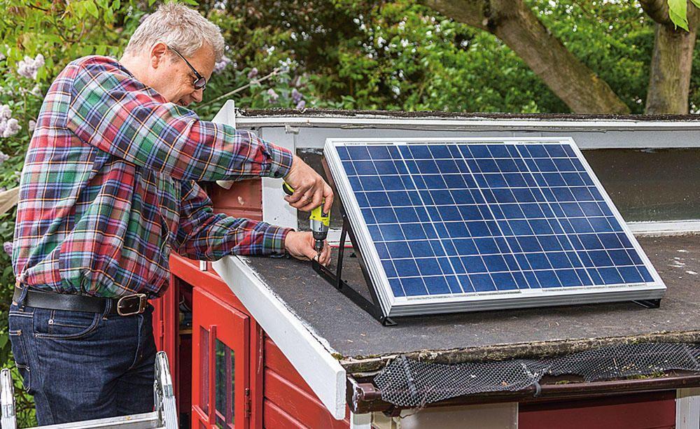 Solaranlage Fur Das Gartenhaus Solaranlage Gartenhaus Solaranlage Solar