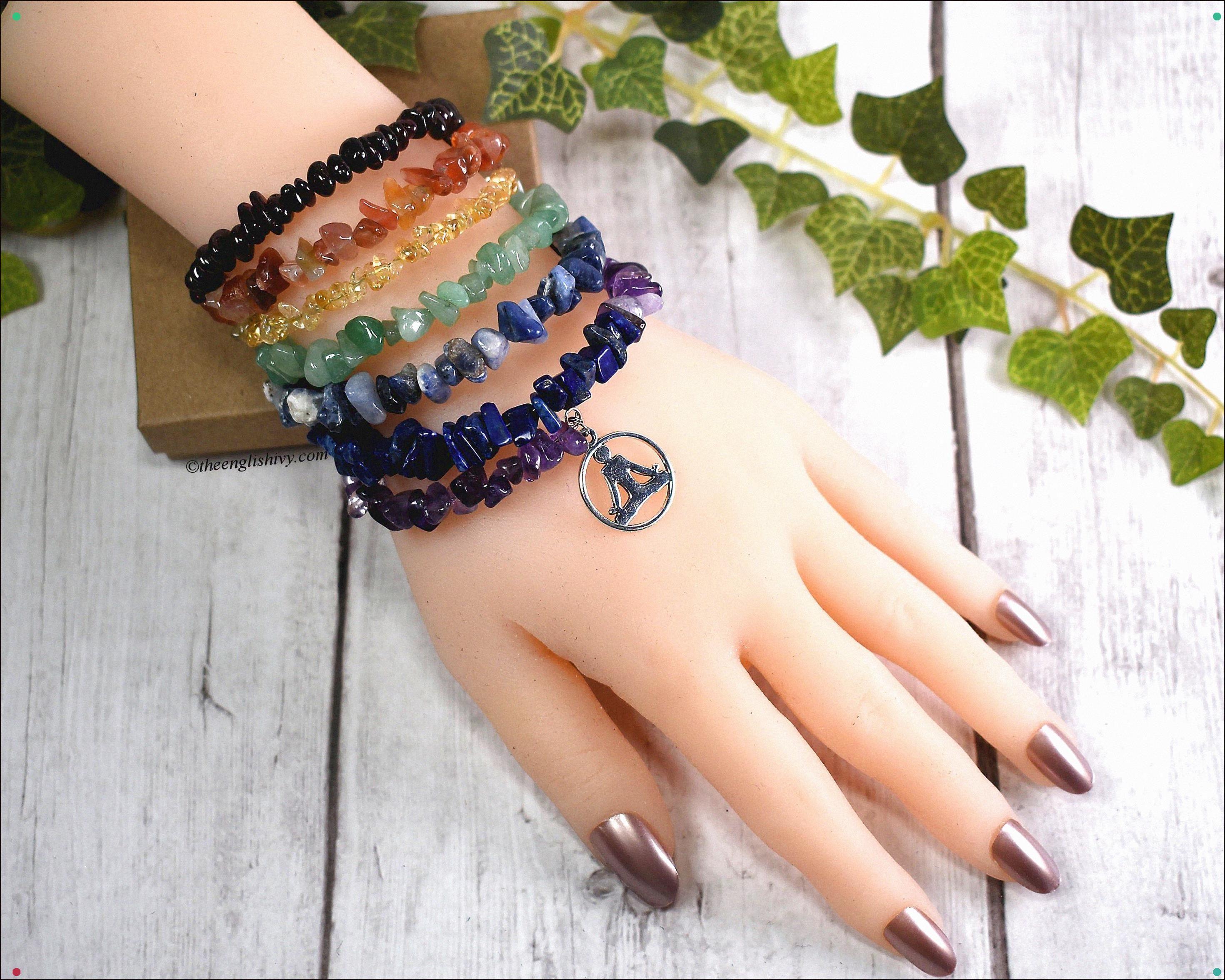 Whichever Chakra You Feel Needs Opening, The English Ivy Has You Covered With This 7 Layer Crystal Chakra Bracelet : . . . #Chakras #Meditation #Hindu #Buddhism #Crystals #Gemstones #Lotus #Yoga #Handmade #Theenglishivy #Etsy #Giftsunder30