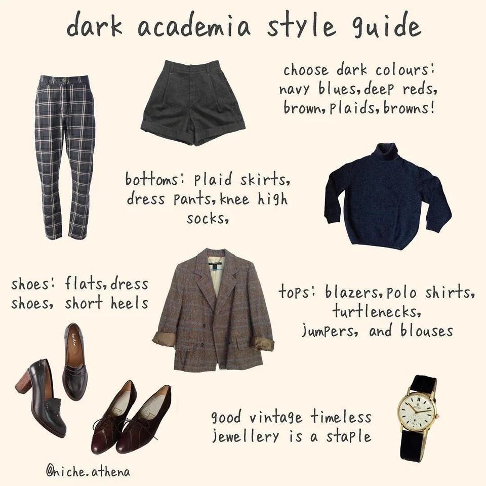 Style Guide Dark Academia Fashion Female