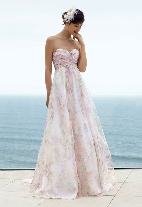 Beach Theme Wedding Dresses And Images Gallery Related To Colorful Themed