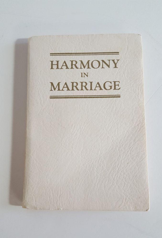 Harmony in Marriage 1946 Leland Foster Wood Unused Marital