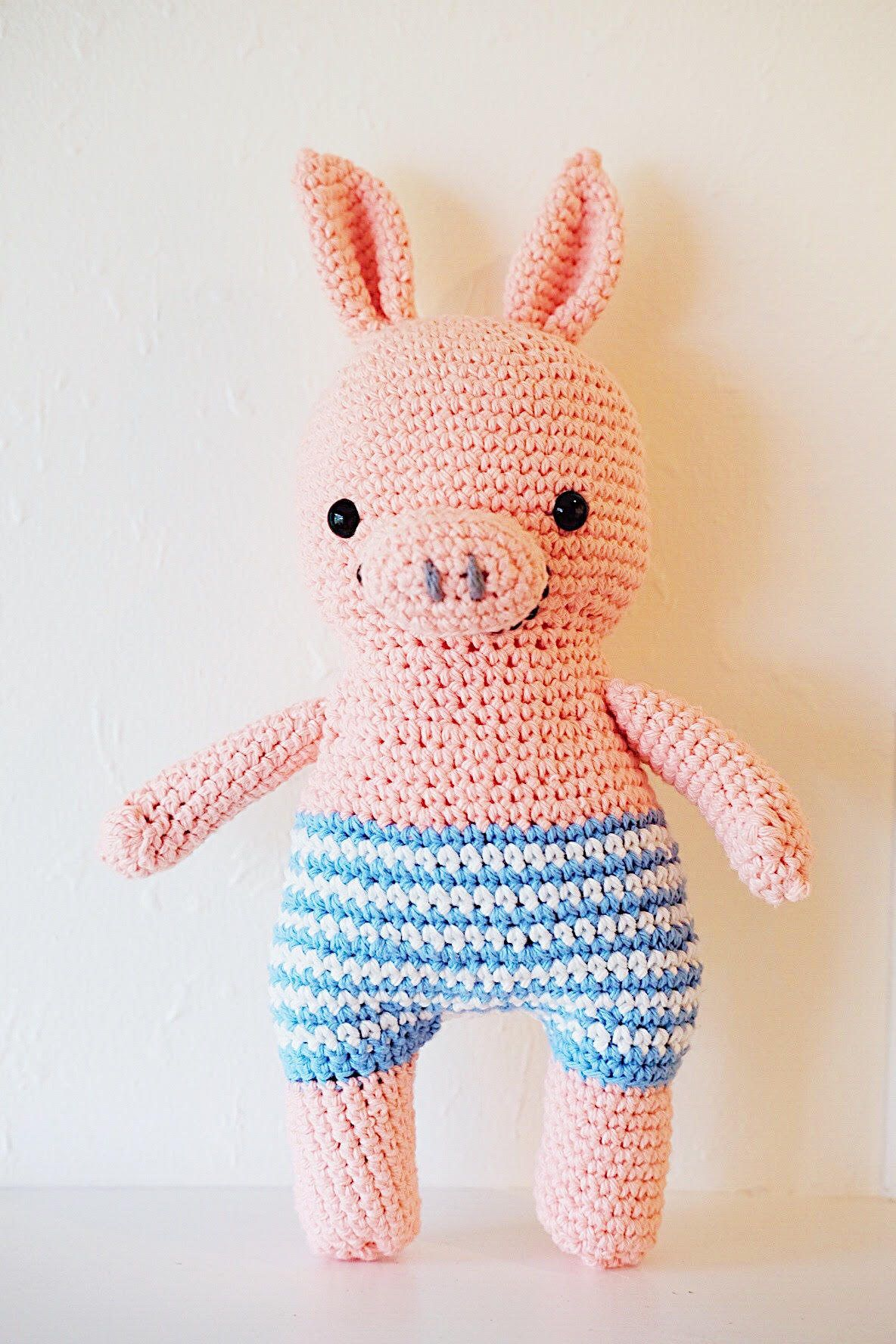 Crochet Stuffed Pig. For sale on etsy. Handmade amigurumi pig. Peppa ...