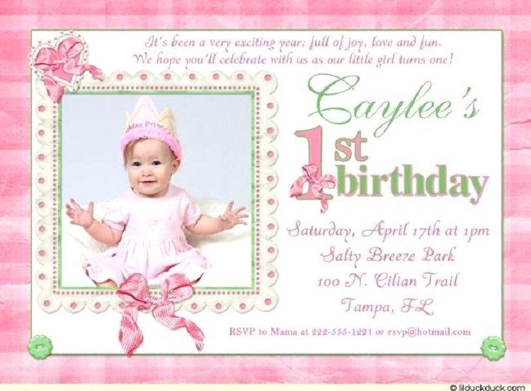 baby girl 1st birthday invitation