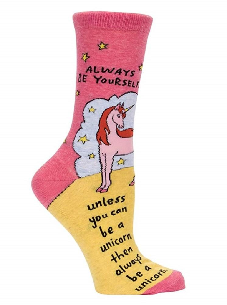 e20c119ce Always Be a Unicorn Women s Crew Socks in Pink and Yellow – The Bullish  Store  sockstyle  socksandsandals  sockslover  socksaddict  socksgame   socksgirl ...