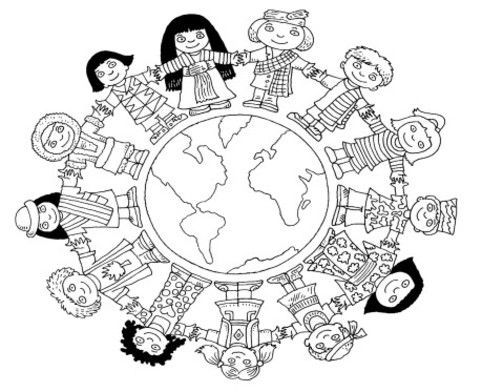 children coloring pages to print 2 countries Pinterest Child