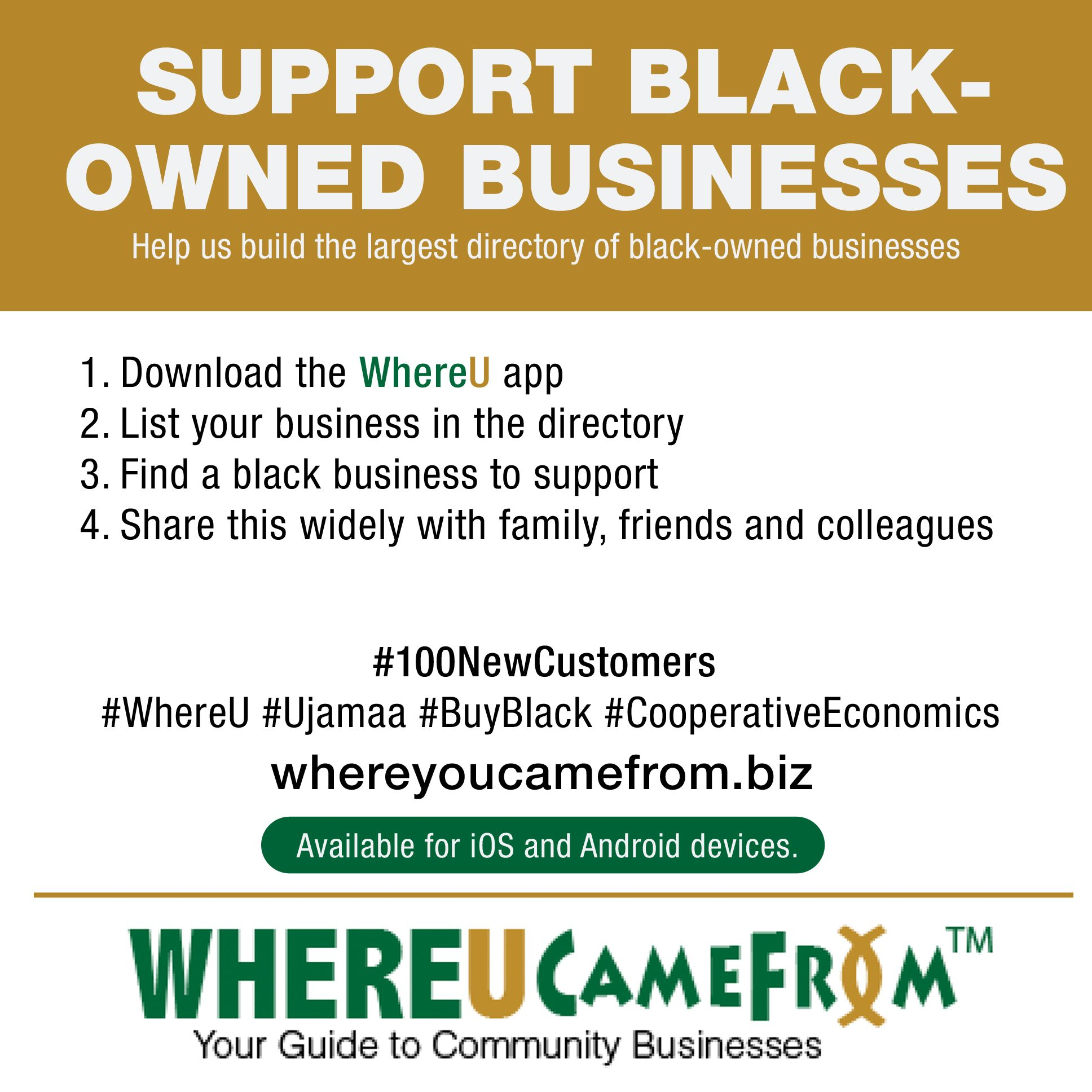 Like a Yelp for black owned biz. Very cool. Supportive