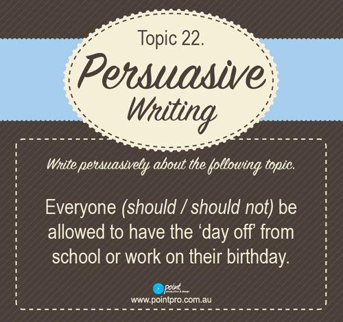 Persuasive Writing Cards