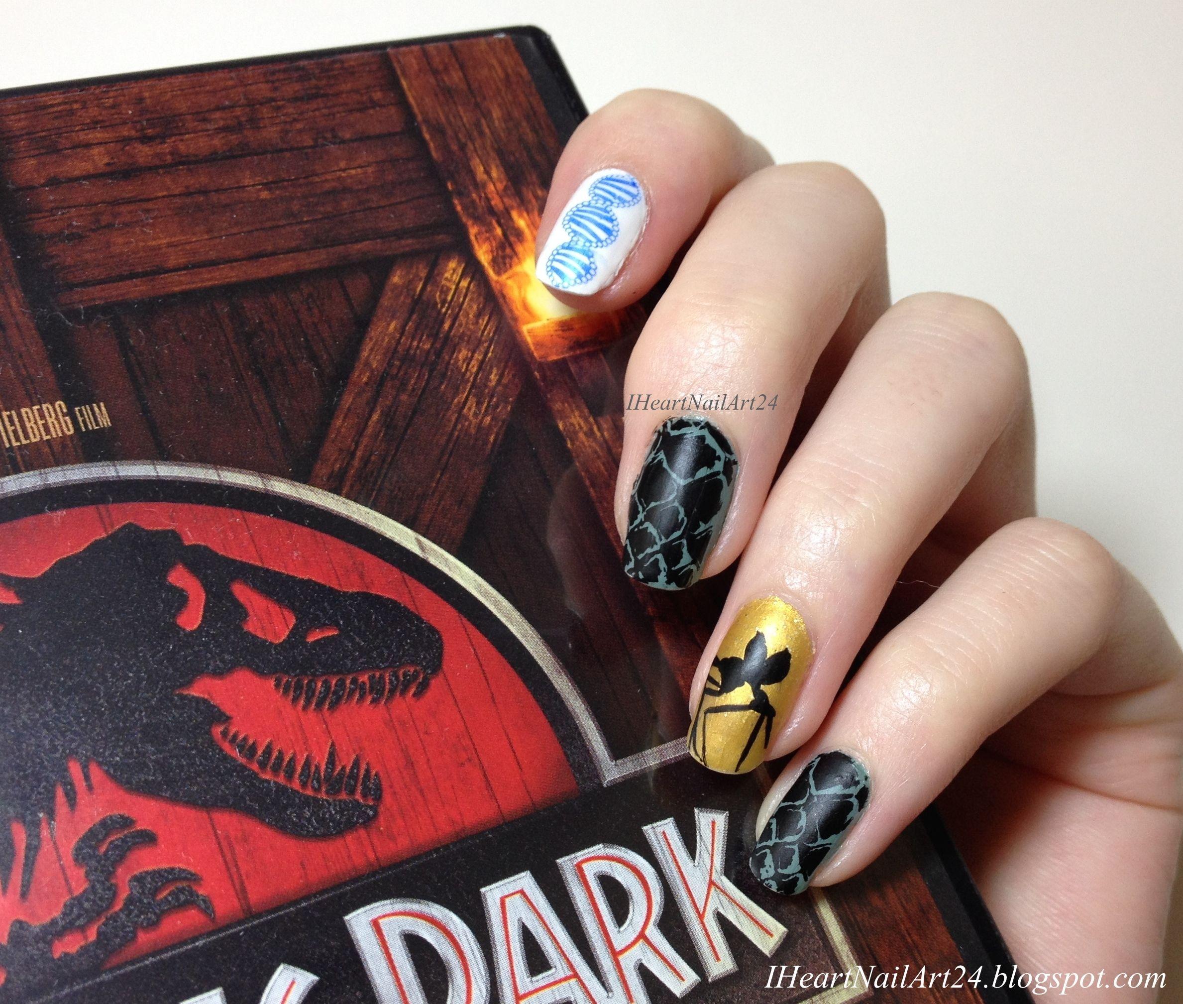 Jurassic Park Nail Art.   DIY Beautyness   Pinterest   Park, Mani ...
