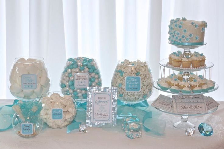 Tiffany and CoParty Decorations Tiffany Nikkis candy buffet