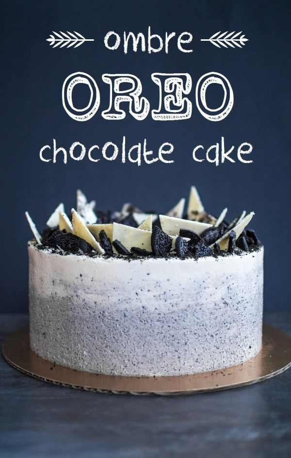 ombre oreo chocolate cake with Swiss meringue buttercream icing