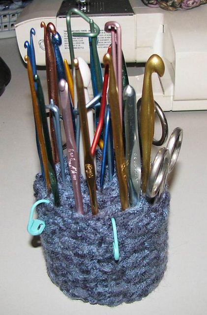 Crocheted Crochet Hook Holder (s) pattern by Armina Parnagian ...