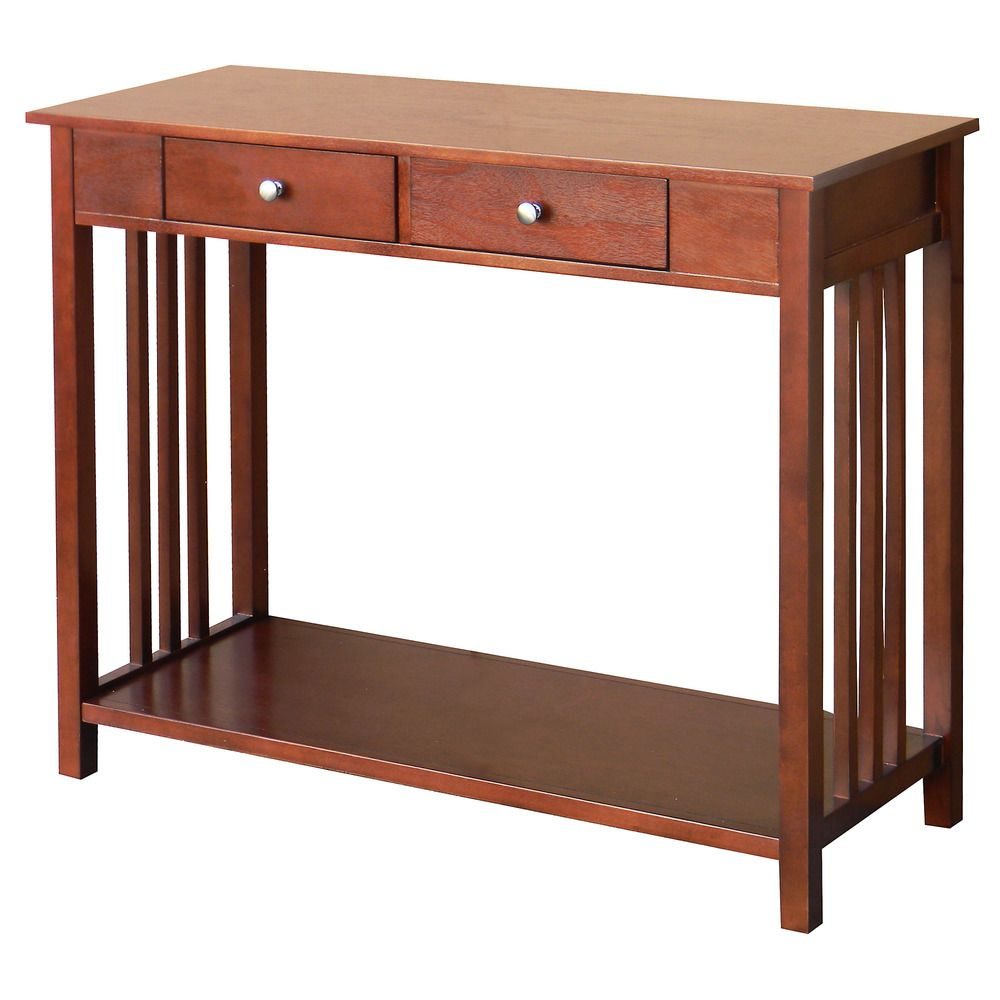 Hollydale Chestnut Mission Style Console Table | Overstock.com Shopping    Great Deals On DonnieAnn