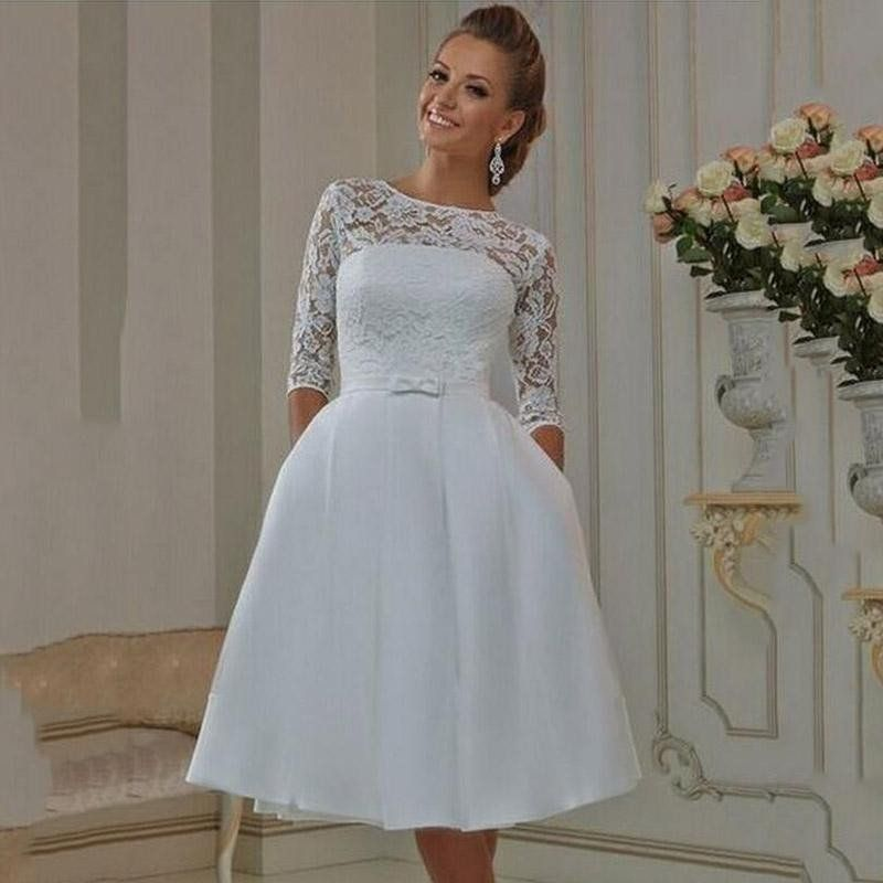 Very simple and low key. would make a cute wedding dress!   Wedding ...