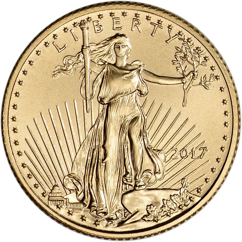 2017 $5 American Gold Eagle 1//10 oz Brilliant Uncirculated