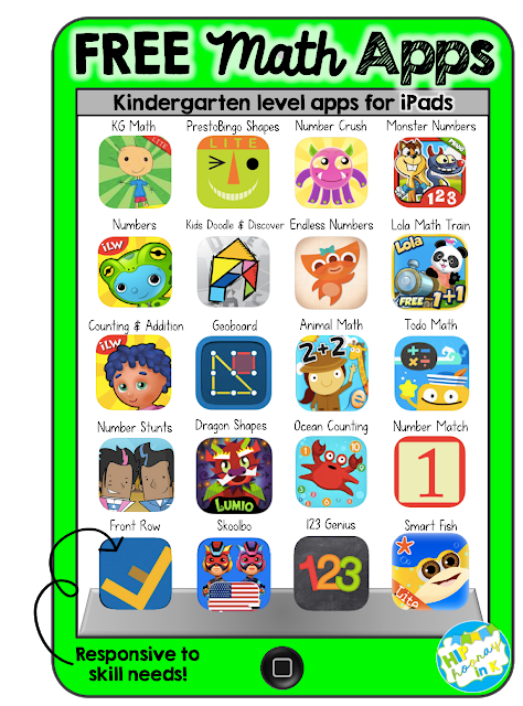Hip Hooray in K APPmazing Free Math Apps (for iPad) in