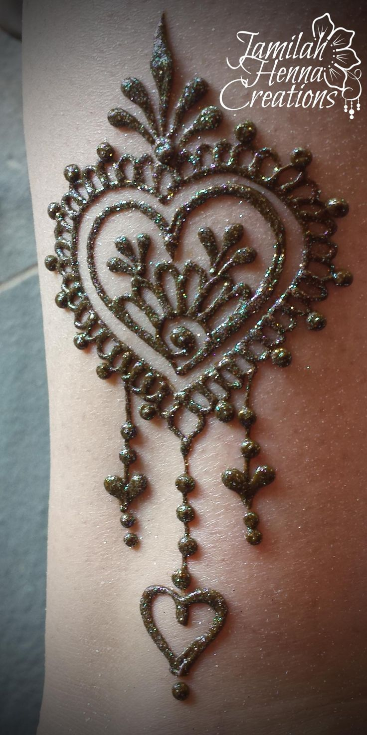 Simple Henna Tattoo Designs For Wrist: Heart Henna Design Www.JamilahHennaCreations.com