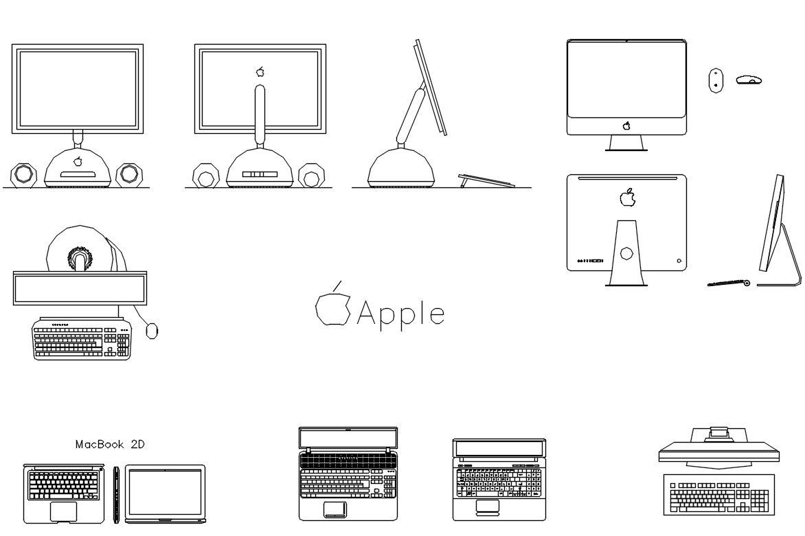 Free Equipment blocks-computers | FREE CAD BLOCKS & DRAWINGS