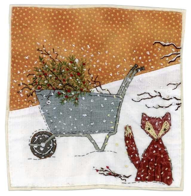 Sharon Blackman textiles applique and embroidery | Christmas ...