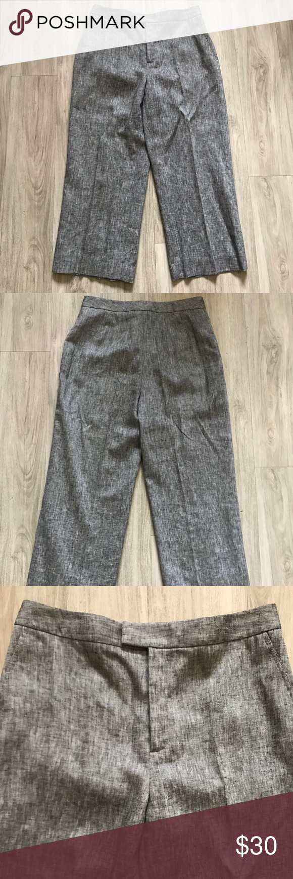 019575d51d Ellen Tracy 100% Linen Capri Pants. Size 8 100% linen Dry clean Zip ...