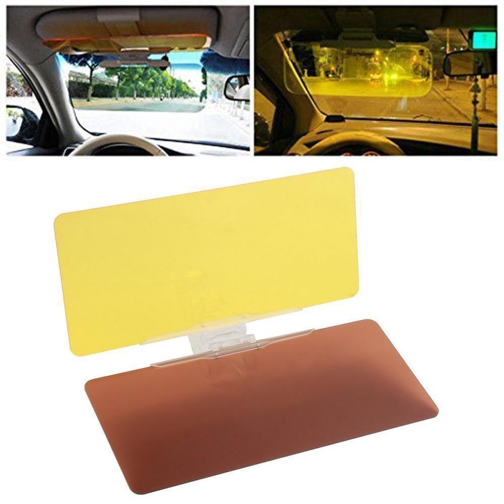 2 in 1 Mirror Car Sun Visor Dazzle Anti-Glare Goggle Day Night Vision Driving