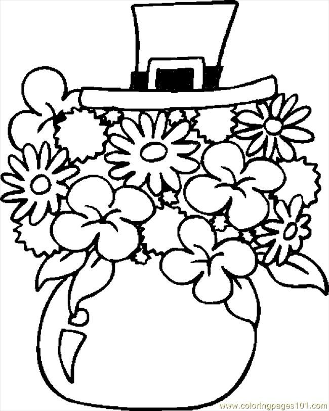 Bouquet Coloring flowers Pinterest Coloring pages