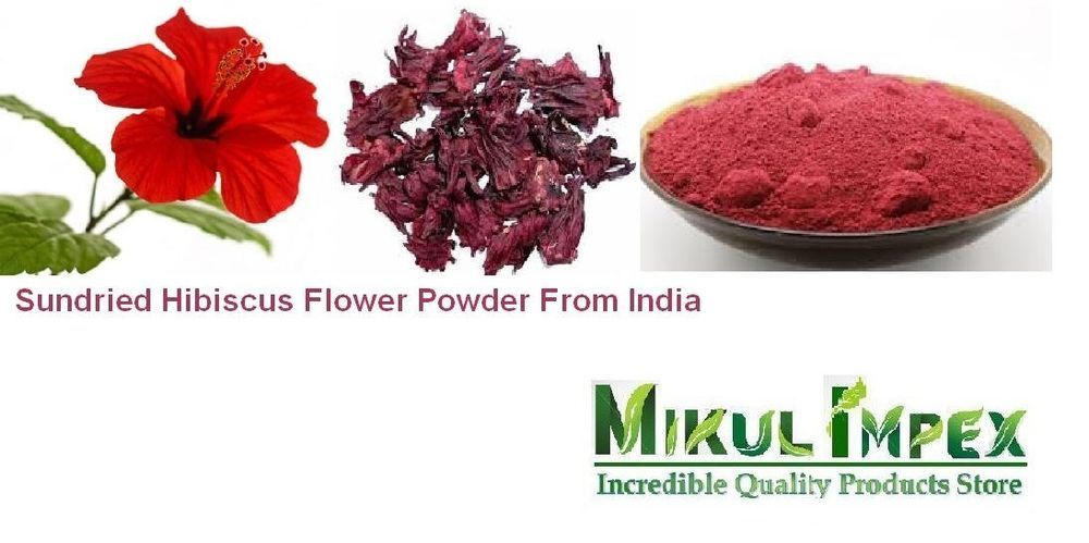 Details About Hibiscus Flower Powder Therapeutic Natural Organic