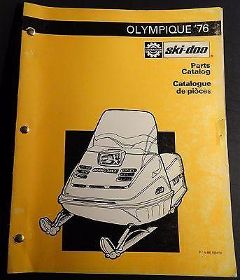 1976 bombardier ski doo olympique snowmobile parts manual 480 1034 rh pinterest com ski doo olympique parts manual ski doo tundra parts manual