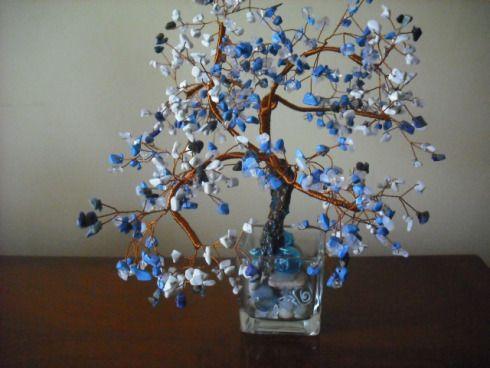 Howlit si turcoaz albastru vopsit pe sarma de cupru