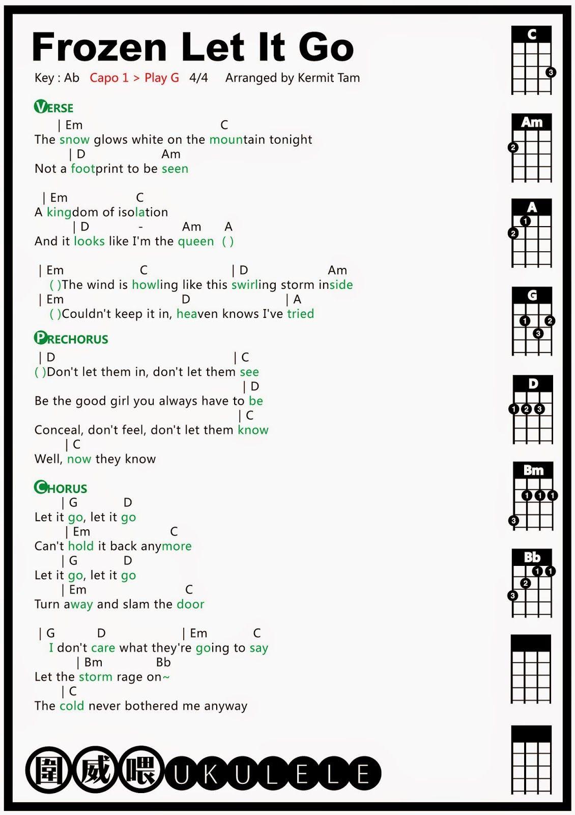 let her go uke chords