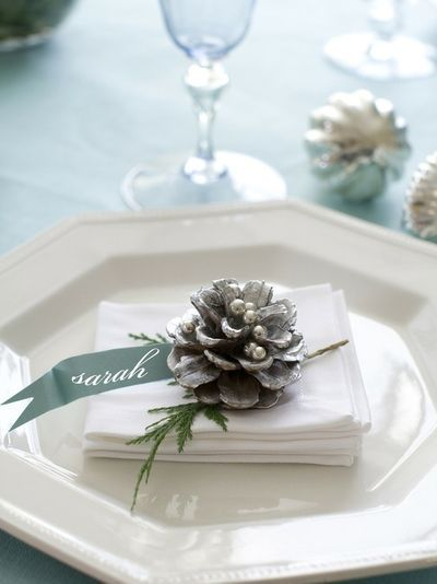 17 Ideas For Your Christmas Place Cards Holiday Table Settings