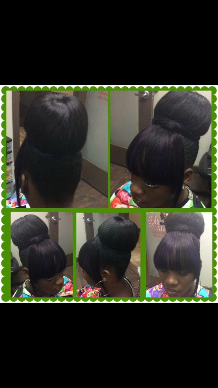 Protective style with it works hair,skin & nails vitamins