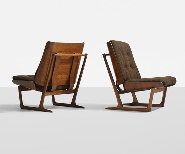 Plastolux: Scandinavian Design Wright AuctionsDANISH, Lounge Chairs, Pair,  C. 1965,