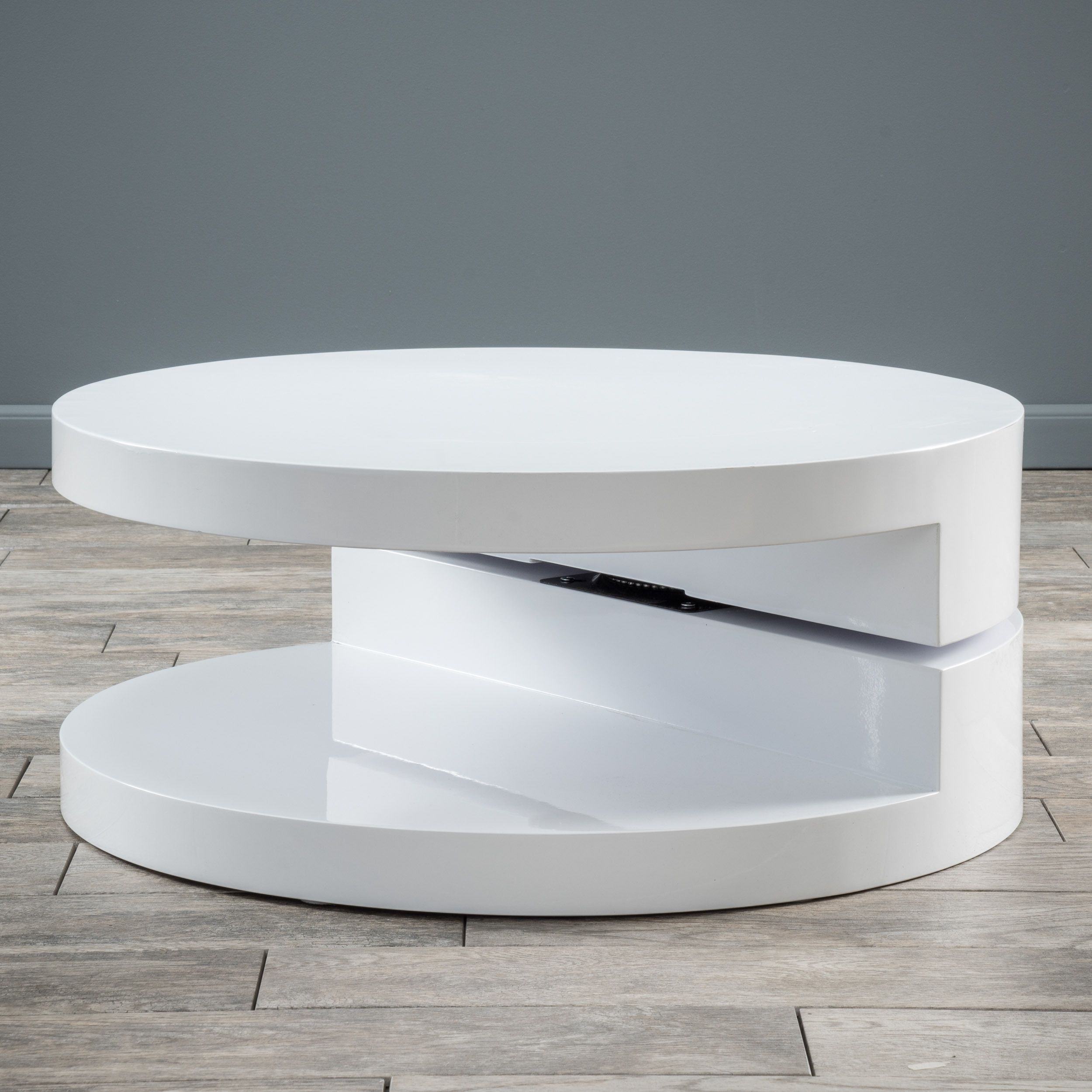 Circular Mod Rotatable Coffee Table by Christopher Knight