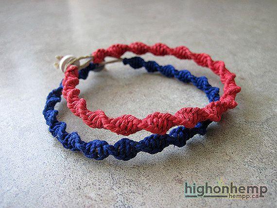 Spiral Bracelets Custom Bracelets Hemp bracelets set por HighonHemp