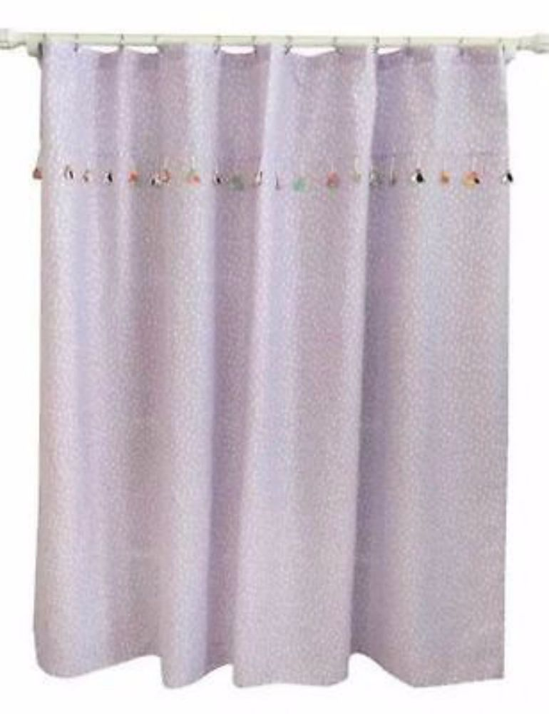 Target Pillowfort Violet Purple Tassel Shower Curtain NWOP