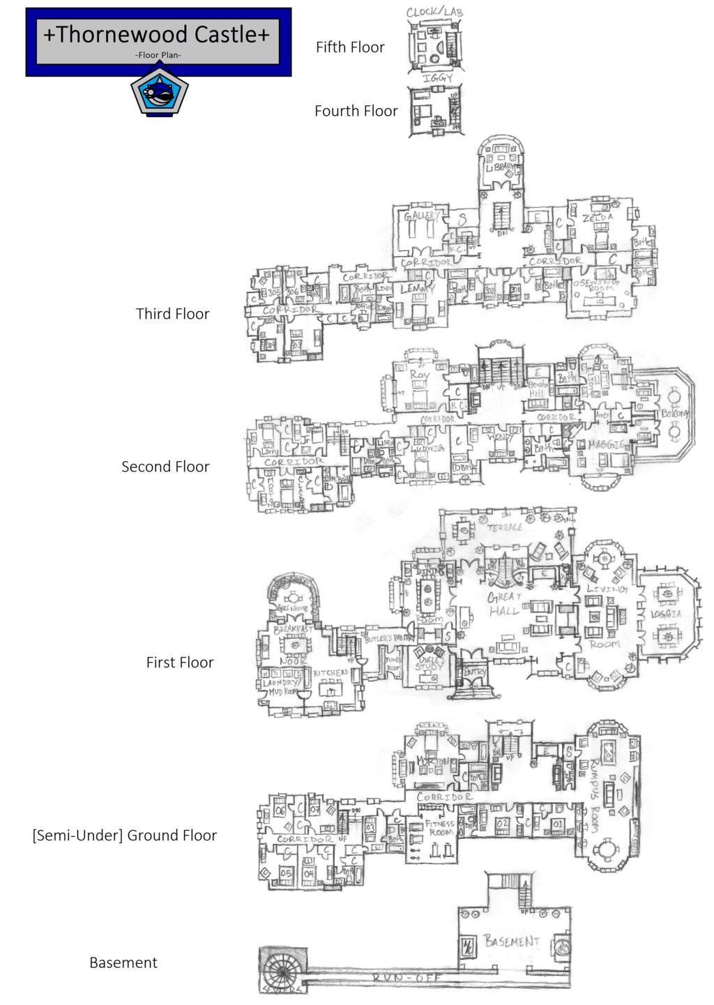 Thornewood castle floor plan google search castle for Chateau blueprints