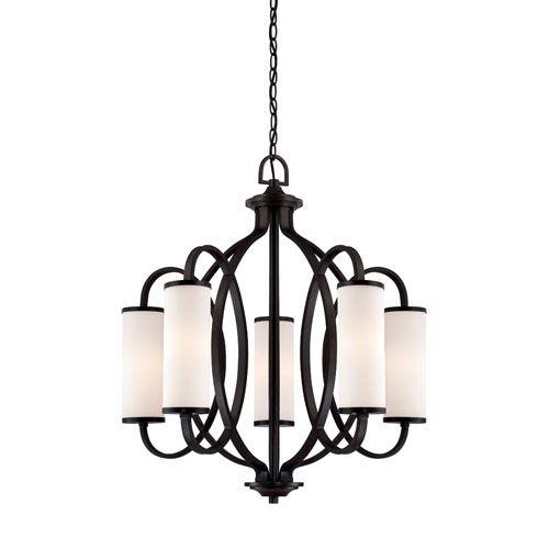 Designers Fountain Bellemeade Artisan Five-Light Changelier  Bellacor 789375  27W x 29H