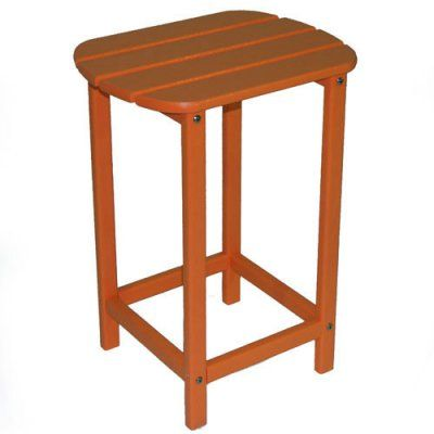 Outdoor POLYWOOD® South Beach Recycled Plastic 26 in. Side Table Tangerine - SBT26TA