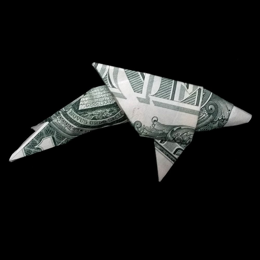 Money origami dolphin made out of real one dollar bill art gifts dolphin money origami real one dollar bill art gift animal by trinket2shop on etsy jeuxipadfo Image collections