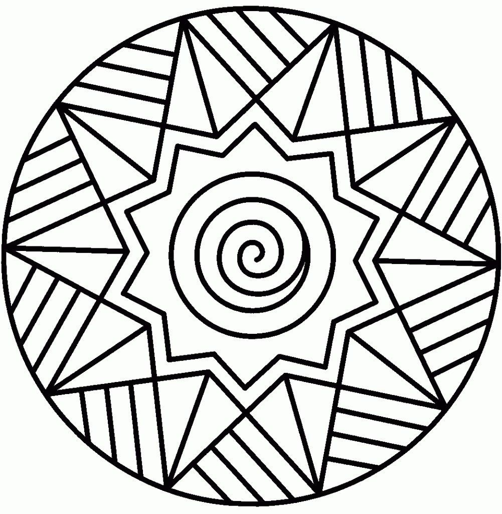Coloring Pages Printable Easy Geometric Coloring Pages Mandala Coloring Books Mandala Coloring Pages