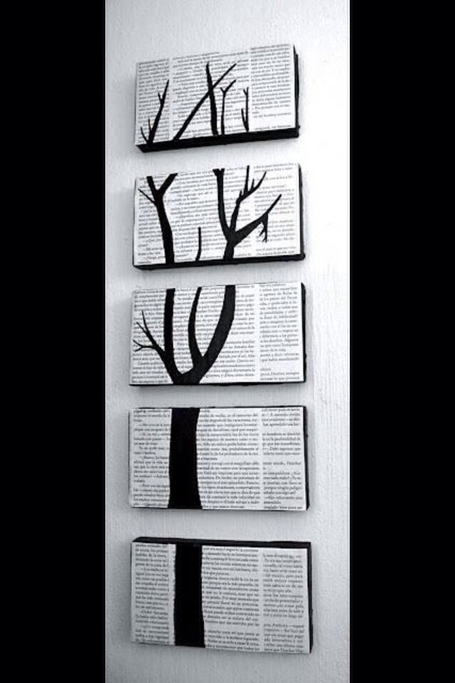 DIY Wall Art | Inntriør | Pinterest | Newspaper wall, Newspaper and ...