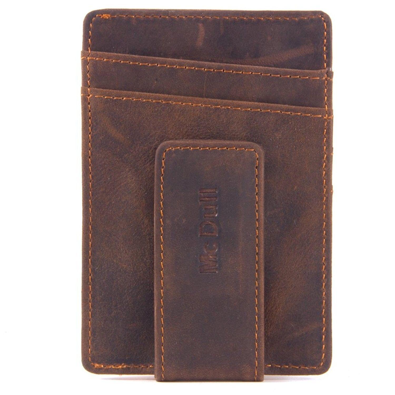 d29c913cc888 Mens Money Clip Wallet - Genuine Leather Magnet Front Pocket Wallet ...